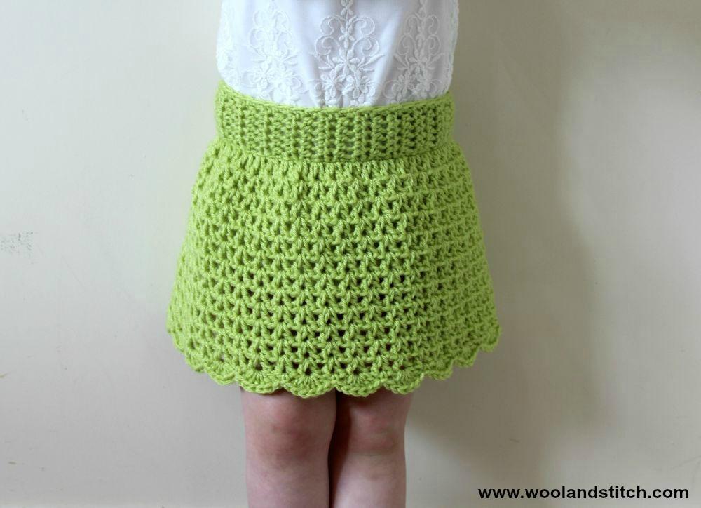 Mini Kids Summer Skirt Free Crochet Pattern Wool And Stitch