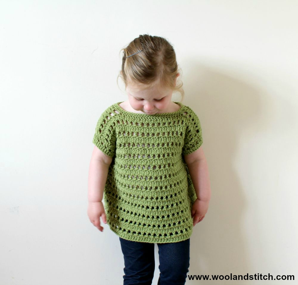 MINI KIDS OPEN WORK TOP – FREE CROCHET PATTERN – Wool and Stitch