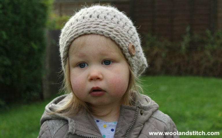 Mini Kids Slouch Hat Free Crochet Pattern Wool And Stitch