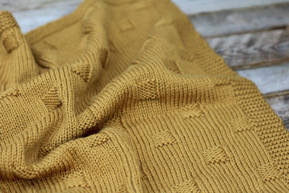 BRYN KNIT BABY BLANKET WORSTED PATTERN – FREE KNITTING PATTERN ...