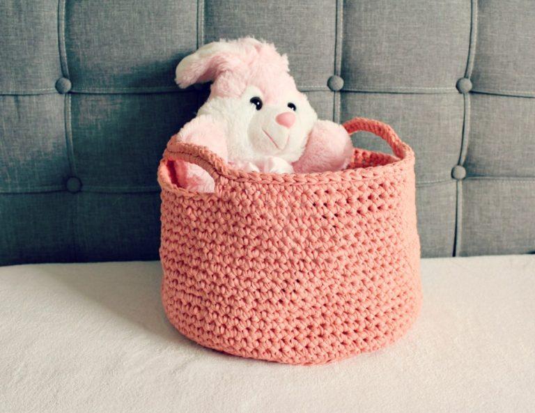 FLOOR BASKET PATTERN – FREE CROCHET PATTERN – Wool and Stitch