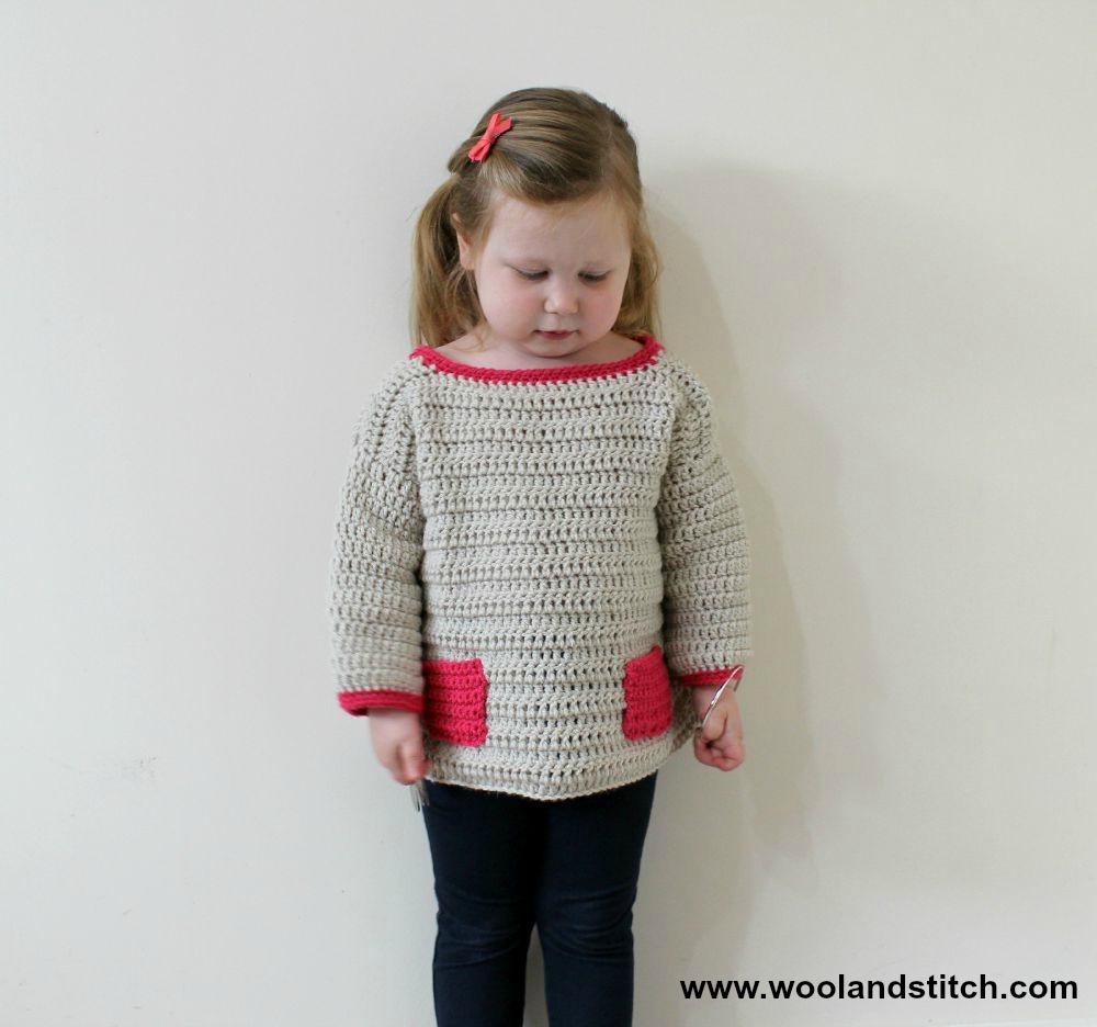 Mini Kids Pocket Sweater Free Crochet Pattern Wool And Stitch
