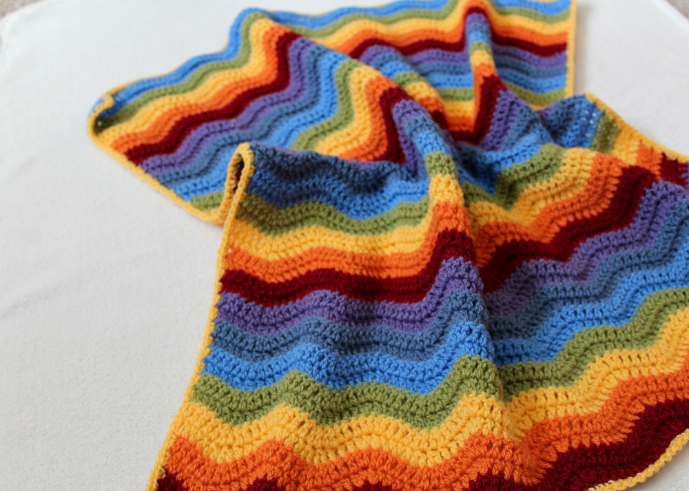 Rainbow Ripple Baby Blanket Free Crochet Pattern Wool And Stitch